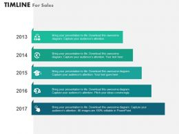 Year Based Vertical Timeline for Sales Powerpoint Slides