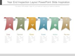 Year End Inspection Layout Powerpoint Slide Inspiration