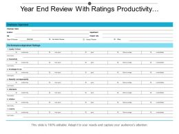 Year End Review With Ratings Productivity Quality Of Work