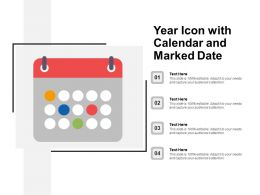 Year Icon With Calendar And Marked Date