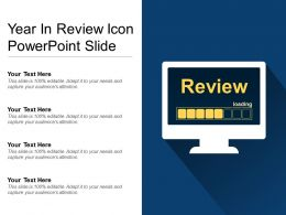 Year In Review Icon Powerpoint Slide