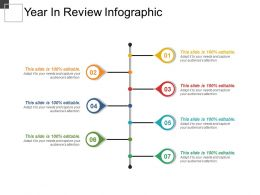 Year In Review Infographic Powerpoint Layout