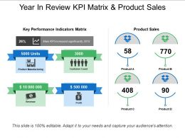 Year In Review Kpi Matrix And Product Sales