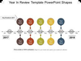 Year In Review Template Powerpoint Shapes