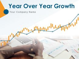Year Over Year Growth Business Graph Revenue Operation Organization Strategy Location Comparison