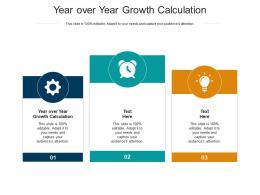 Year Over Year Growth Calculation Ppt Powerpoint Presentation Portfolio Deck Cpb