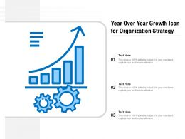 Year Over Year Growth Icon For Business Operation
