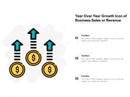 Year Over Year Growth Icon Of Business Sales Or Revenue
