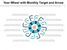 Year Wheel With Monthly Target And Arrow