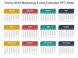 Yearly 2018 Marketing Event Calendar Ppt Slide