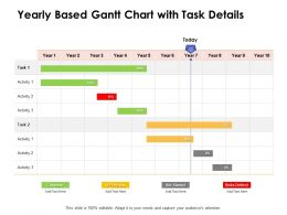 Yearly Based Gantt Chart With Task Details Ppt Powerpoint Presentation Outline Model