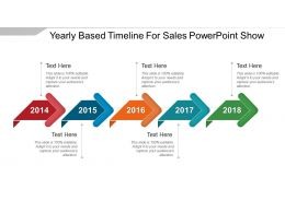 Yearly Based Timeline For Sales Powerpoint Show