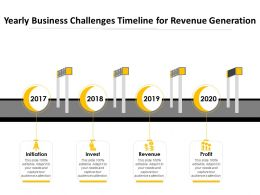 Yearly Business Challenges Timeline For Revenue Generation
