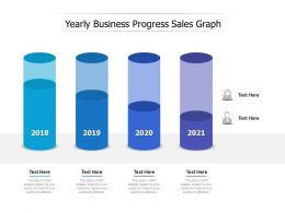 Yearly Business Progress Sales Graph