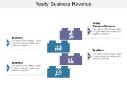 Yearly Business Revenue Ppt Powerpoint Presentation Styles Background Designs Cpb