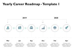 Yearly Career Roadmap A842 Ppt Powerpoint Presentation Layouts Show