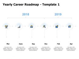 Yearly Career Roadmap Planning Ppt Powerpoint Presentation Slides Tips