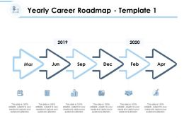 Yearly Career Roadmap Process Ppt Powerpoint Presentation Professional Graphic Tips