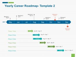 Yearly Career Roadmap Template 2 Ppt Icon Infographic Template