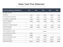 Yearly Cash Flow Statement