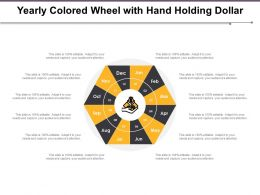 Yearly Colored Wheel With Hand Holding Dollar