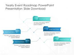 Yearly Event Roadmap Powerpoint Presentation Slide Download Timeline Template