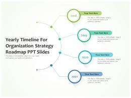 Yearly For Organization Strategy Roadmap Ppt Slides Timeline Powerpoint Template