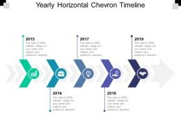 Yearly Horizontal Chevron Timeline