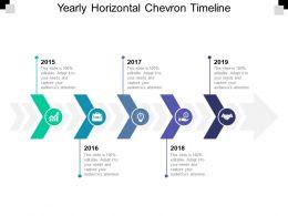 Yearly Horizontal Chevron Timeline