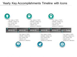 Yearly Key Accomplishments Timeline With Icons
