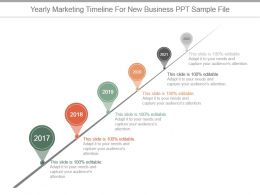 Yearly Marketing Timeline For New Business Ppt Sample File