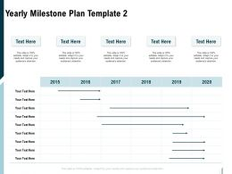 Yearly Milestone Plan Template Ppt Powerpoint Presentation Slides Sample