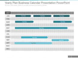 Yearly Plan Business Calendar Presentation Powerpoint