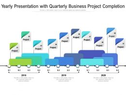 Yearly Presentation With Quarterly Business Project Completion