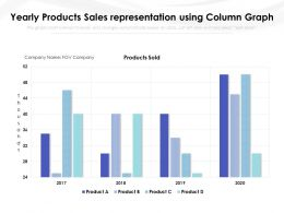 Yearly Products Sales Representation Using Column Graph