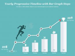Yearly Progressive Timeline With Bar Graph Steps