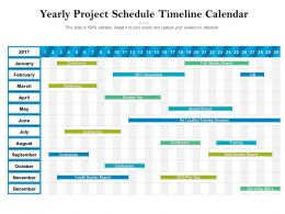 Yearly Project Schedule Timeline Calendar
