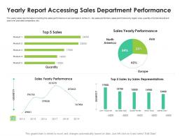 Yearly Report Accessing Sales Department Performance Sales Enablement Enhance Overall Productivity Ppt Grid