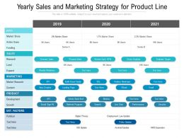 Yearly Sales And Marketing Strategy For Product Line