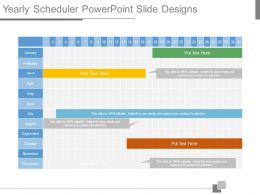 Yearly Scheduler Powerpoint Slide Designs