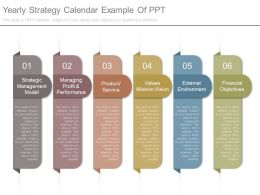 Yearly Strategy Calendar Example Of Ppt