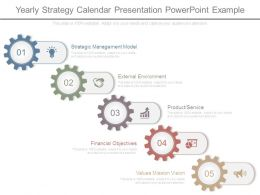 Yearly Strategy Calendar Presentation Powerpoint Example