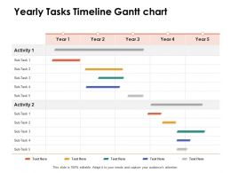 Yearly Tasks Timeline Gantt Chart Ppt Powerpoint Presentation Outline Influencers
