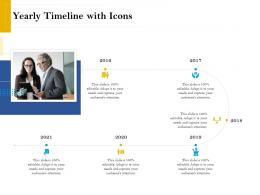 Yearly Timeline With Icons Retirement Analysis Ppt Icon Topics