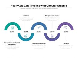 Yearly Zig Zag Timeline With Circular Graphic