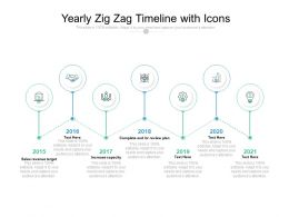 Yearly Zig Zag Timeline With Icons