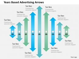 Years Based Advertising Arrows Powerpoint Templates