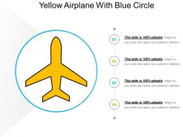 Yellow Airplane With Blue Circle