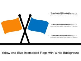 Yellow And Blue Intersected Flags With White Background