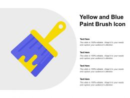 Yellow And Blue Paint Brush Icon
